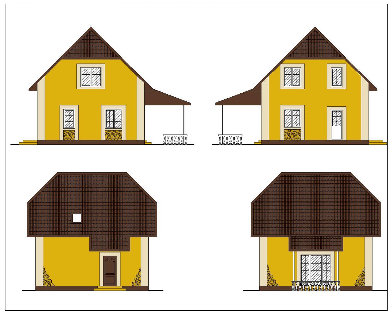 Одноэтажный дом с двумя спальнями